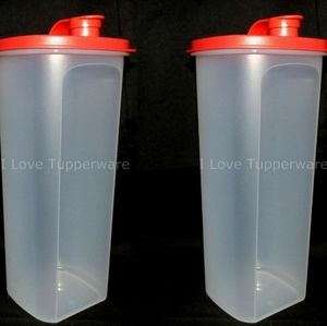 2 Tupperware Slim Line Pitchers (2 liters )